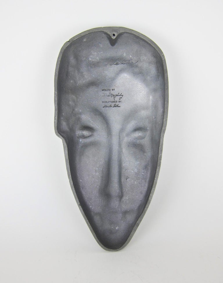 Mid-Century Modern Letitia Mask Sculpture by Evaline Clark Sellors For Sale 3