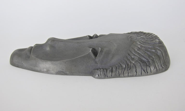 American Mid-Century Modern Letitia Mask Sculpture by Evaline Clark Sellors For Sale