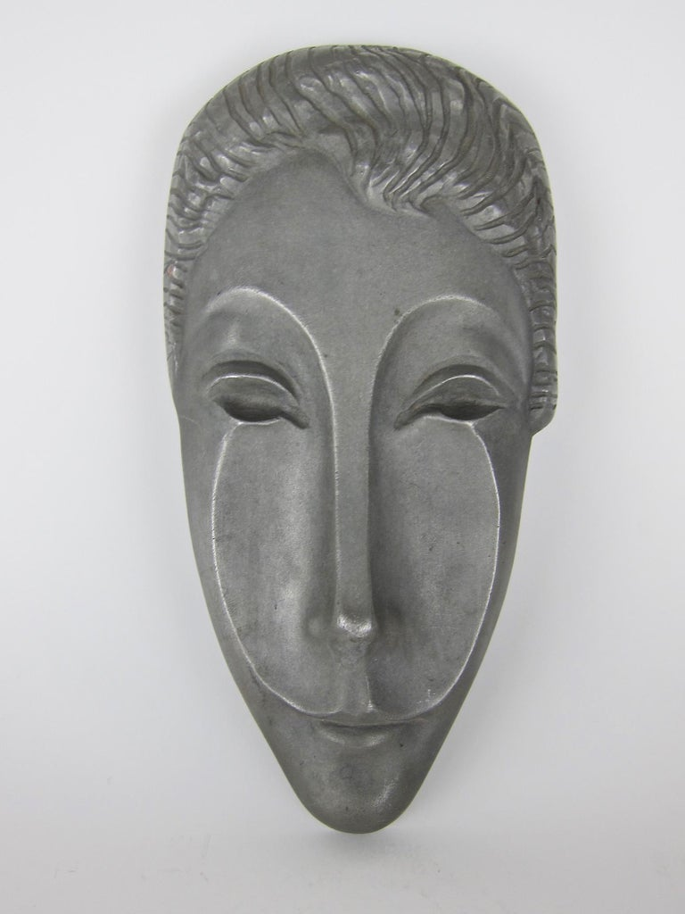 Mid-Century Modern Letitia Mask Sculpture by Evaline Clark Sellors For Sale 1