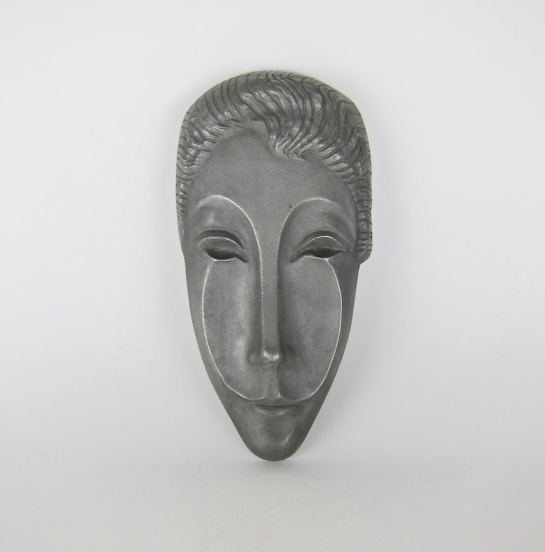 Mid-Century Modern Letitia Mask Sculpture by Evaline Clark Sellors For Sale 2