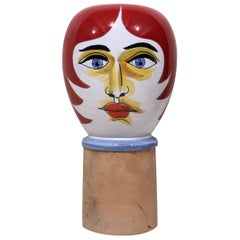 Mid-Century Modern Life-Size Ceramic Bust