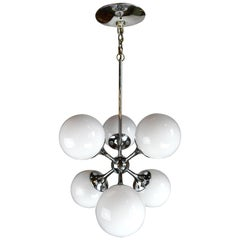 Mid-Century Modern Lightolier Sputnik 6-Light Chrome Chandelier