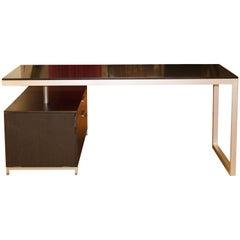 Mid-Century Modern Ligne Roset Everywhere Desk W Filing Cabinet Aluminum
