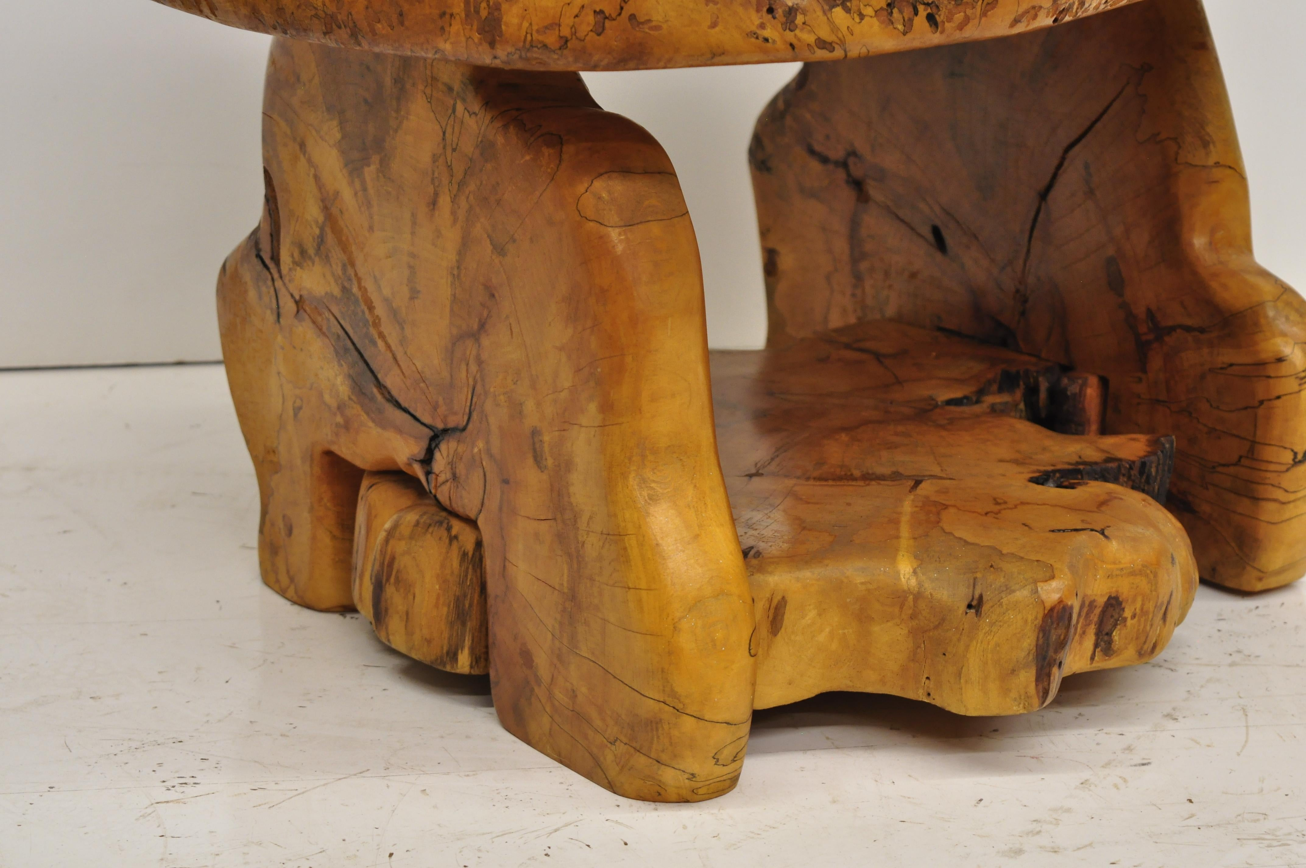 Miraculous Mid Century Modern Live Edge Burl Wood Slab Coffee Table By Fabulous Furniture Beutiful Home Inspiration Ommitmahrainfo