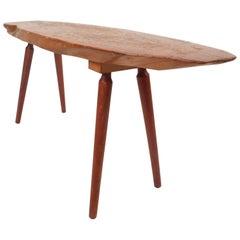 Mid-Century Modern Live Edge Coffee Table