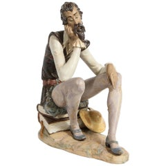 Mid-Century Modern Lladro of Don Quixote Dreaming by Salvador Debón