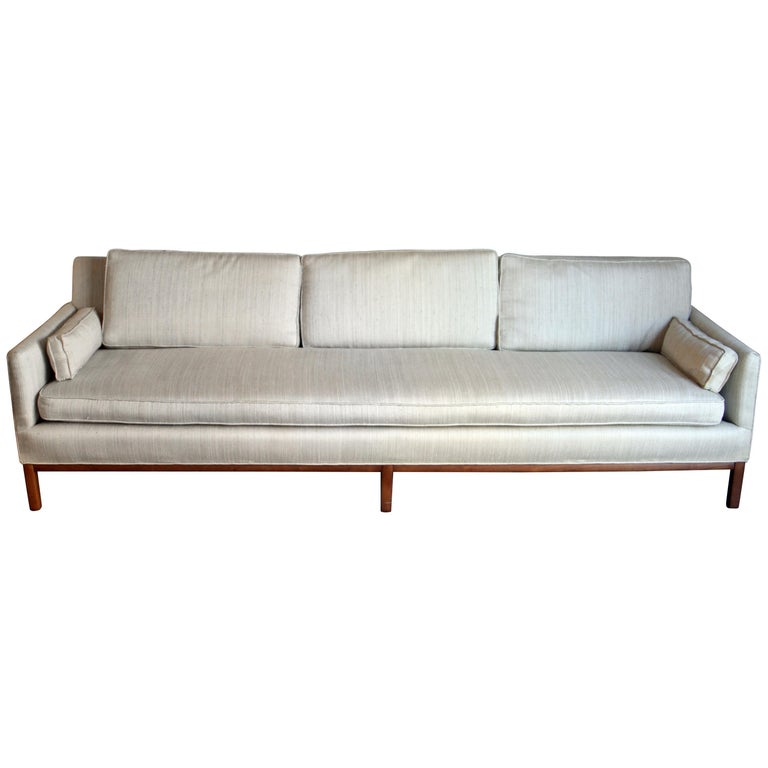 Mid-Century Modern Long and Low Sofa