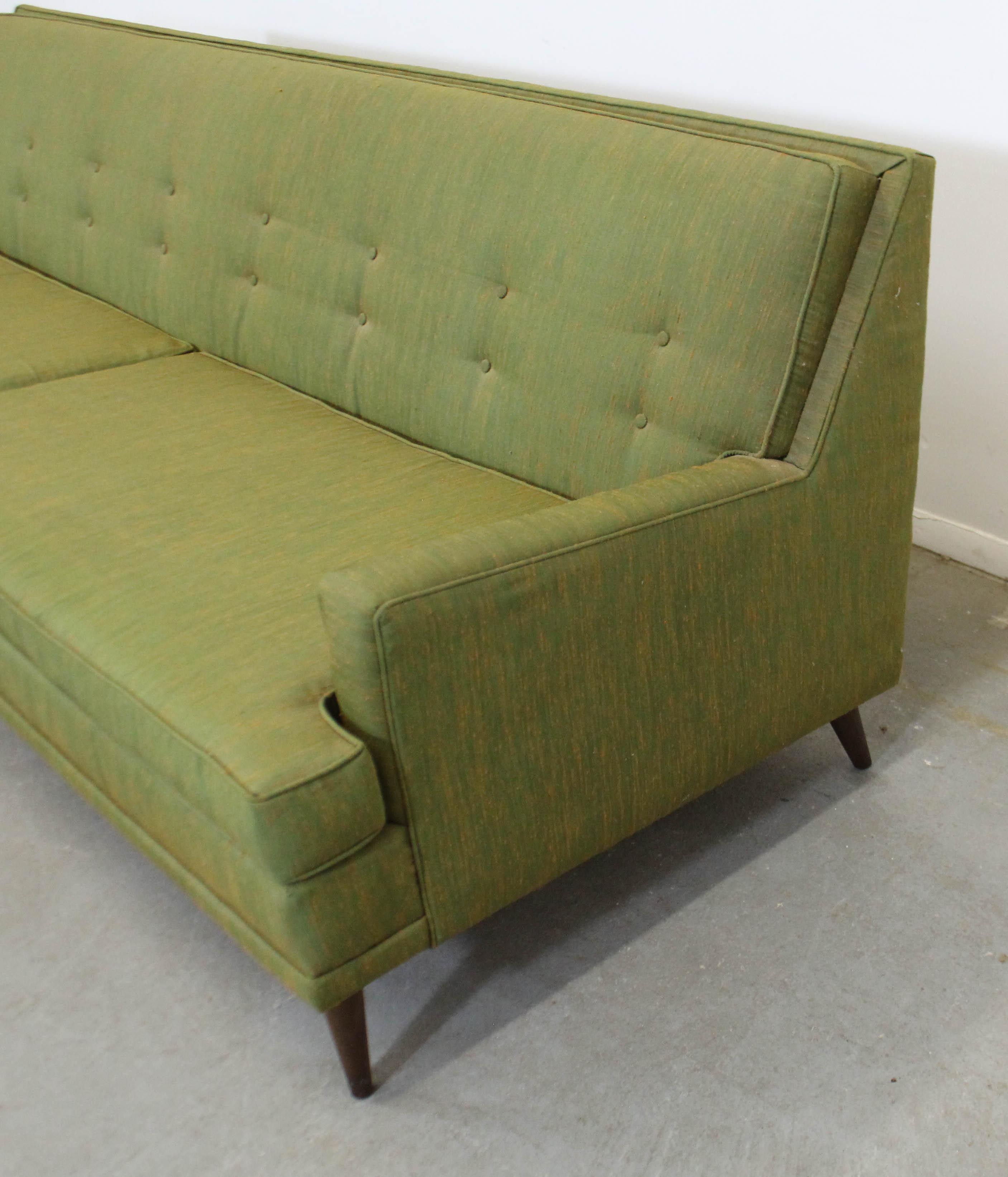 Pleasing Mid Century Modern Long Green Kroehler Sofa At 1Stdibs Creativecarmelina Interior Chair Design Creativecarmelinacom