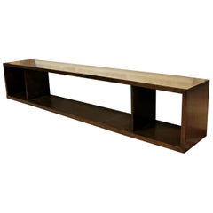 Mid-Century Modern Long Low Wood Console Sofa Table, 1960s