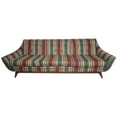 Mid-Century Modern Long Sofa