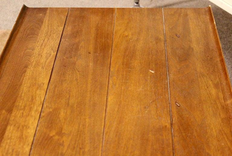 Mid-Century Modern Long Wood Table Bench Seat Dunbar Edward Wormley, 1960s For Sale 1