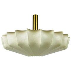 Mid-Century Modern Losange Brass Cocoon Pendant Lamp, 1960s, Italy