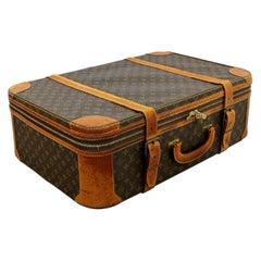 Mid-Century Modern Louis Vuitton Zippered Vintage Luggage Suitcase
