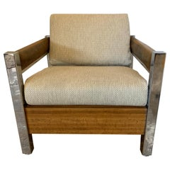 Mid-Century Modern Lounge Chair Armchair Low Profile