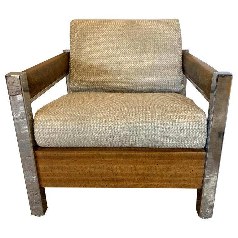 Mid-Century Modern Lounge Chair Armchair Low Profile For Sale