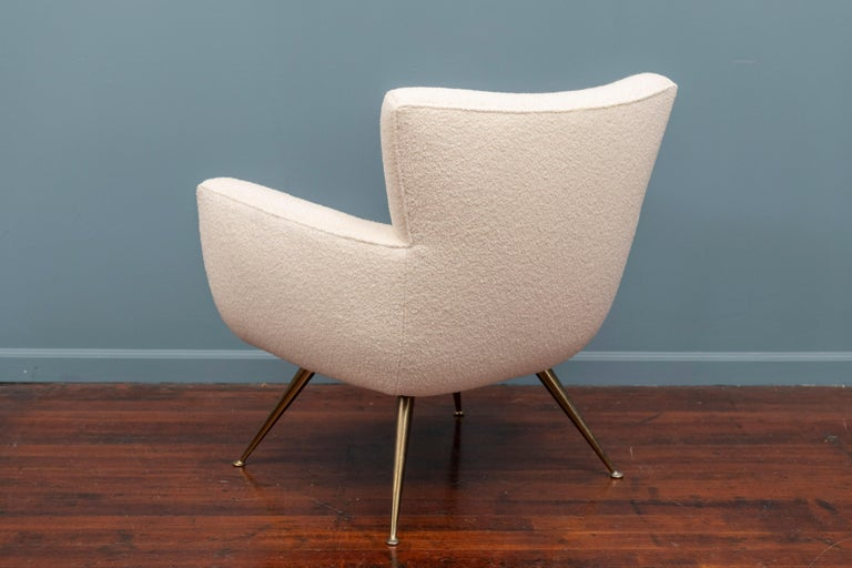 Upholstery Mid-Century Modern Lounge Chair by Henry Glass For Sale