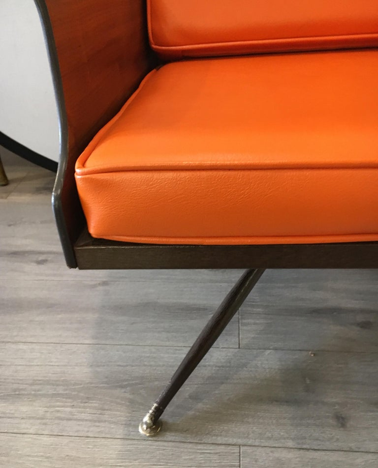 Metal Mid-Century Modern Lounge Chair  For Sale