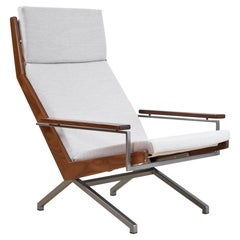 Mid-Century Modern Lounge Chair Teak with Pyramide Foot by Rob Parry, 1960s