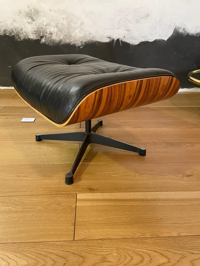 Mid-Century Modern Lounge Chair with Ottoman in the Style of Charles Eames 1970s For Sale 7
