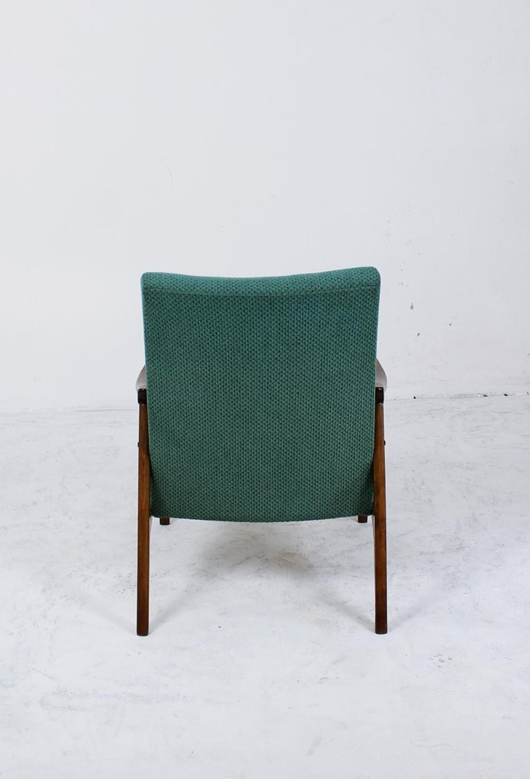 Stained Mid-Century Modern Lounge Chair by Jiří Jiroutek for Interier Praha For Sale