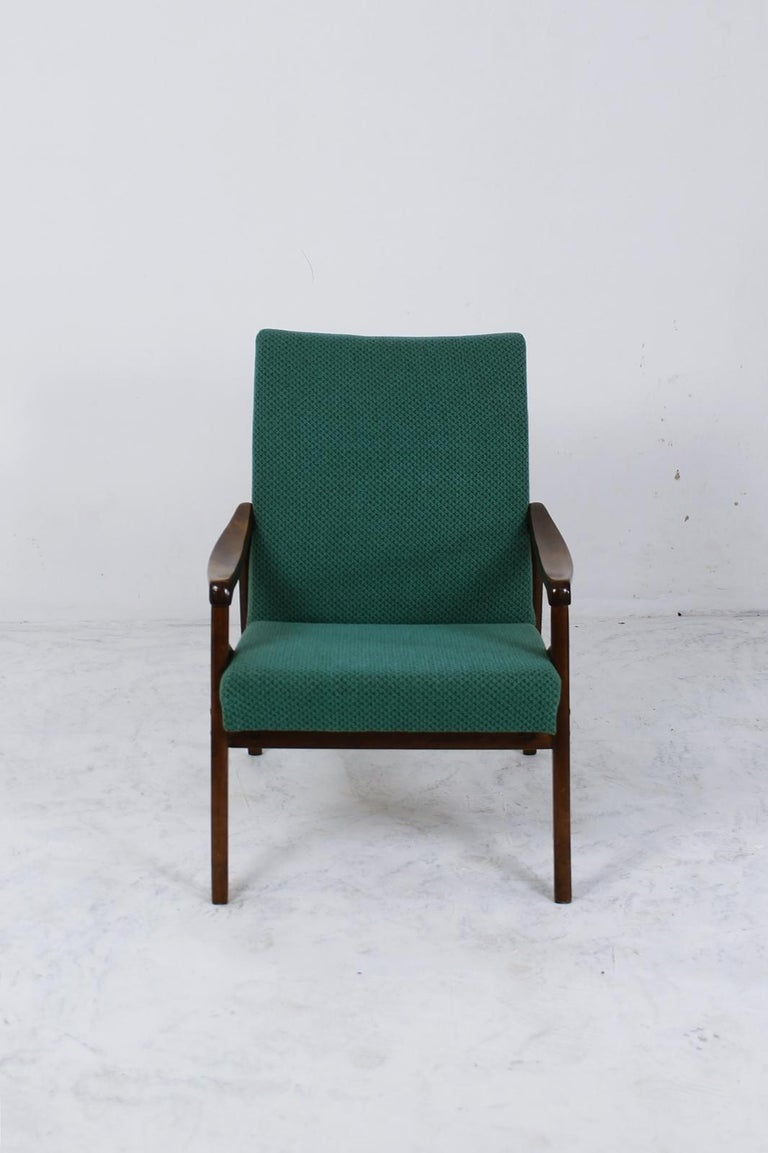 Fabric Mid-Century Modern Lounge Chair by Jiří Jiroutek for Interier Praha For Sale