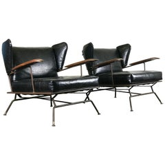 Mid-Century Modern Lounge Chairs by Max Stout