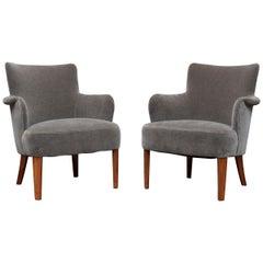 Mid-Century Modern Lounge Chairs, Swedish