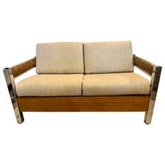 Mid-Century Modern Milo Baughman Style Lounge Loveseat