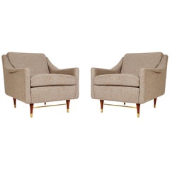 Mid-Century Modern Lounge or Club Chairs After Edward Wormley for Dunbar