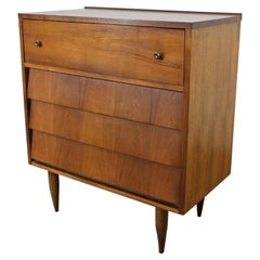 Mid-Century Modern Louvered Front Tall Chest/Dresser