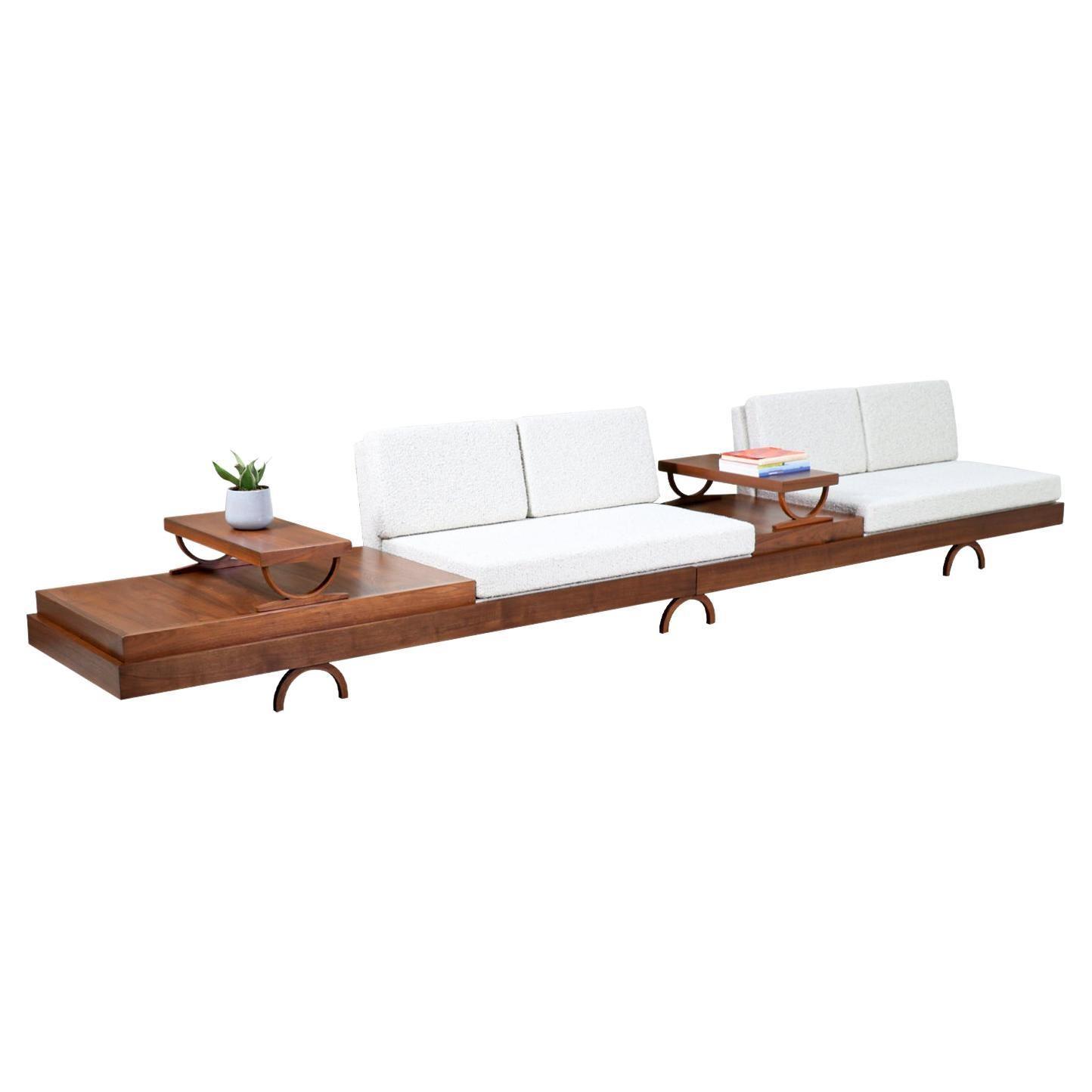 Mid-Century Modern Low-Profile Modular Sofa by Martin Borenstein
