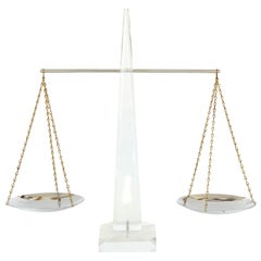 Mid-Century Modern Lucite and Chrome Balance Scale by Astrolite Products