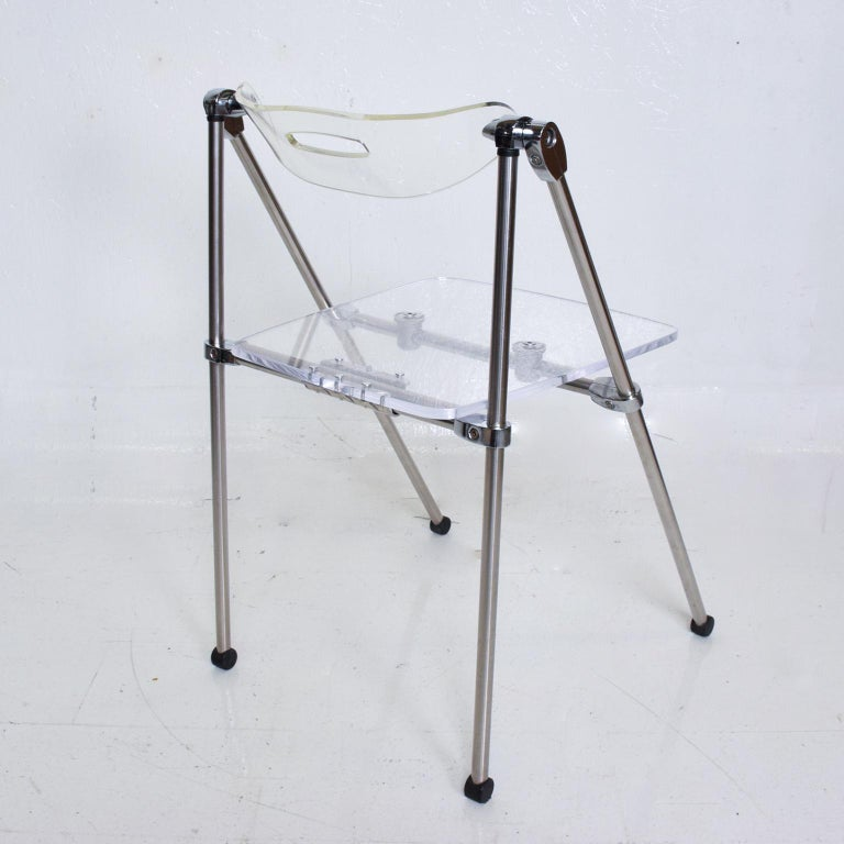 Mid-Century Modern Lucite Chair, after Giancarlo Piretti, Castelli In Good Condition For Sale In National City, CA