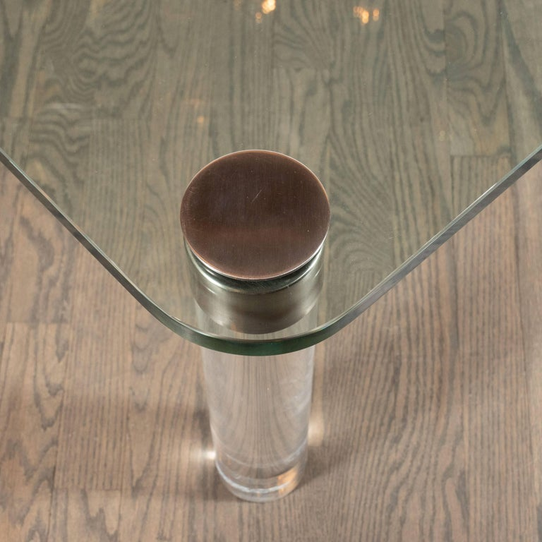 Mid-Century Modern Lucite, Chrome and Glass Cocktail Table, Leon Rosen for Pace For Sale 2