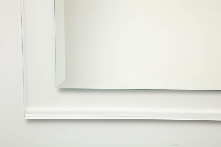 American Mid-Century Modern Lucite Framed Mirror For Sale