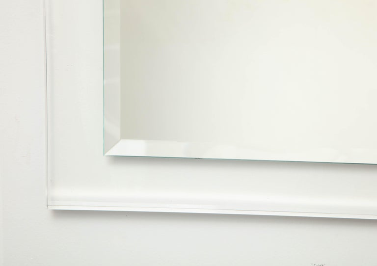 Contemporary Mid-Century Modern Lucite Framed Mirror For Sale