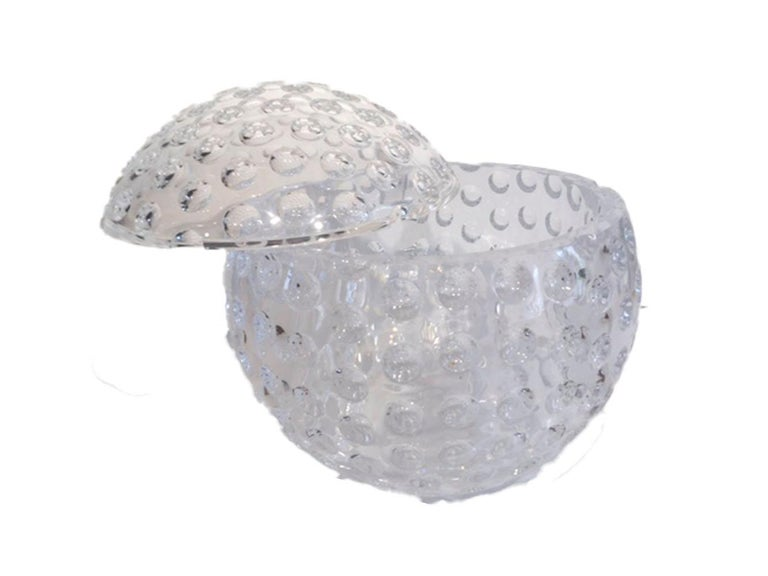 American Mid-Century Modern, Lucite Golf Ball Ice Bucket by Grainware