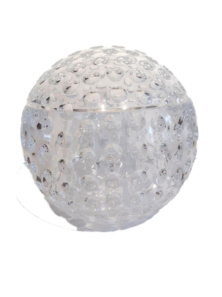 Mid-Century Modern, Lucite Golf Ball Ice Bucket by Grainware In Good Condition In Nantucket, MA