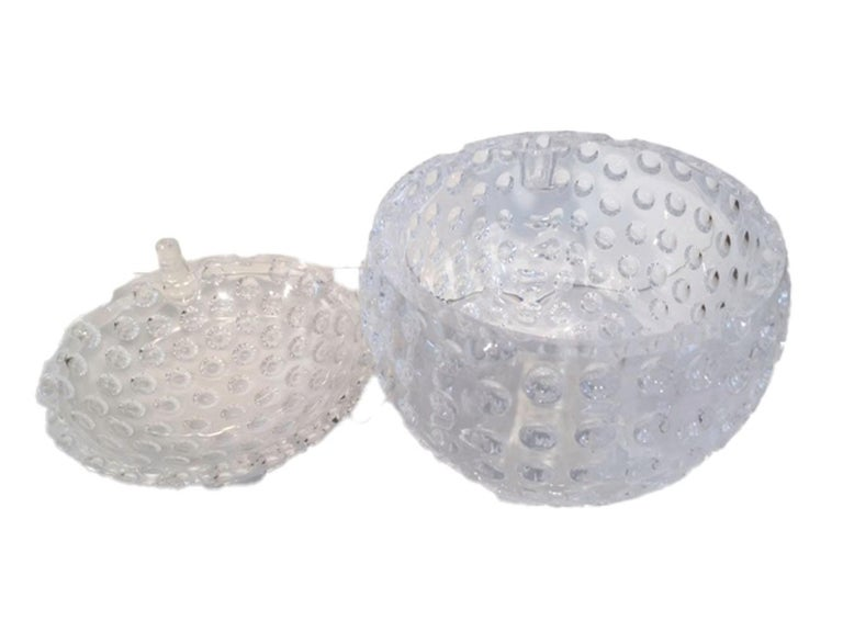 20th Century Mid-Century Modern, Lucite Golf Ball Ice Bucket by Grainware