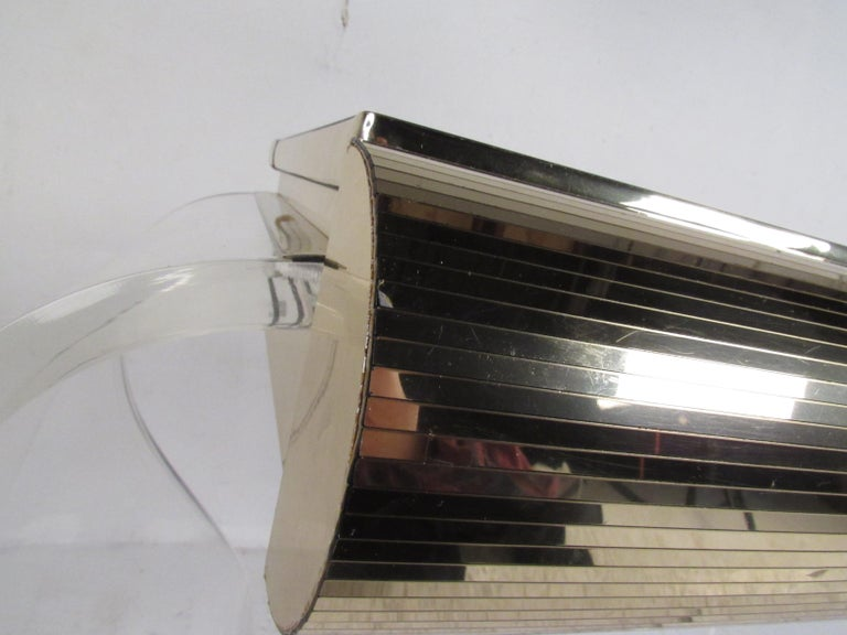 Mid-Century Modern Lucite Vanity with a Mirrored Top by Hill Manufacturing For Sale 6
