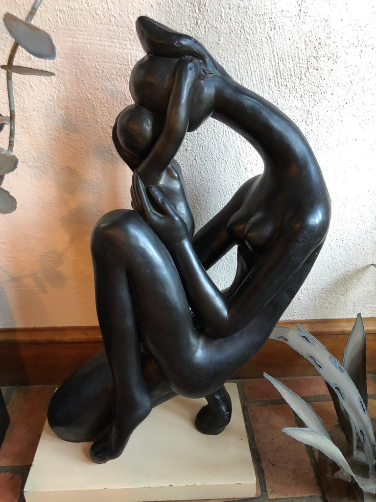 Mid-Century Modern Madonna and Child Sculpture For Sale 3