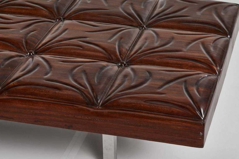 American Mid-Century Modern Mahogany Gallery Bench For Sale