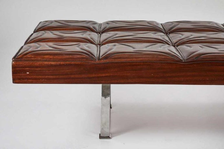 20th Century Mid-Century Modern Mahogany Gallery Bench For Sale