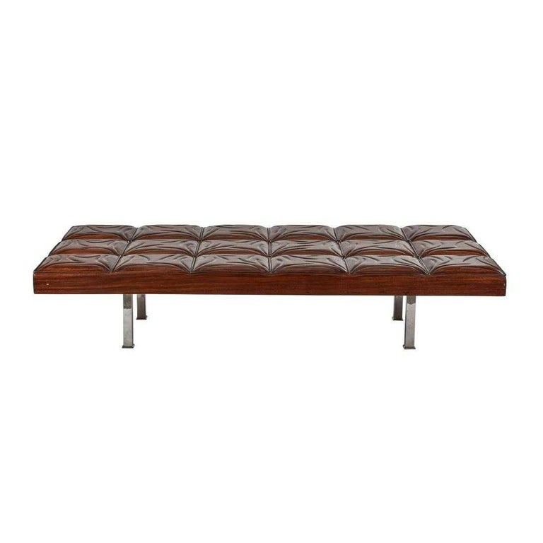 Mid-Century Modern Mahogany Gallery Bench For Sale