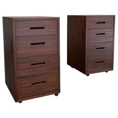 Mid-Century Modern Mahogany Office Filing Cabinets Attributed to Edward Wormley