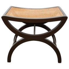 Mid-Century Modern Mahogany Stool by Edward Wormley for Dunbar