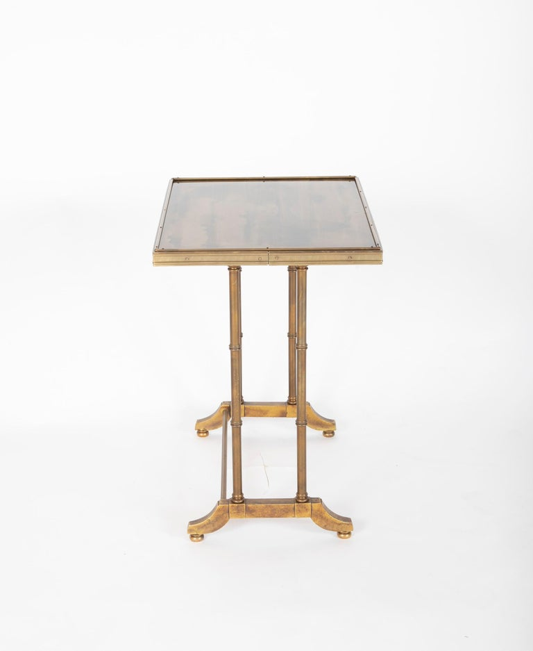 Mid-Century Modern Maison Jansen Brass Nesting Tables, Set of Three For Sale 8