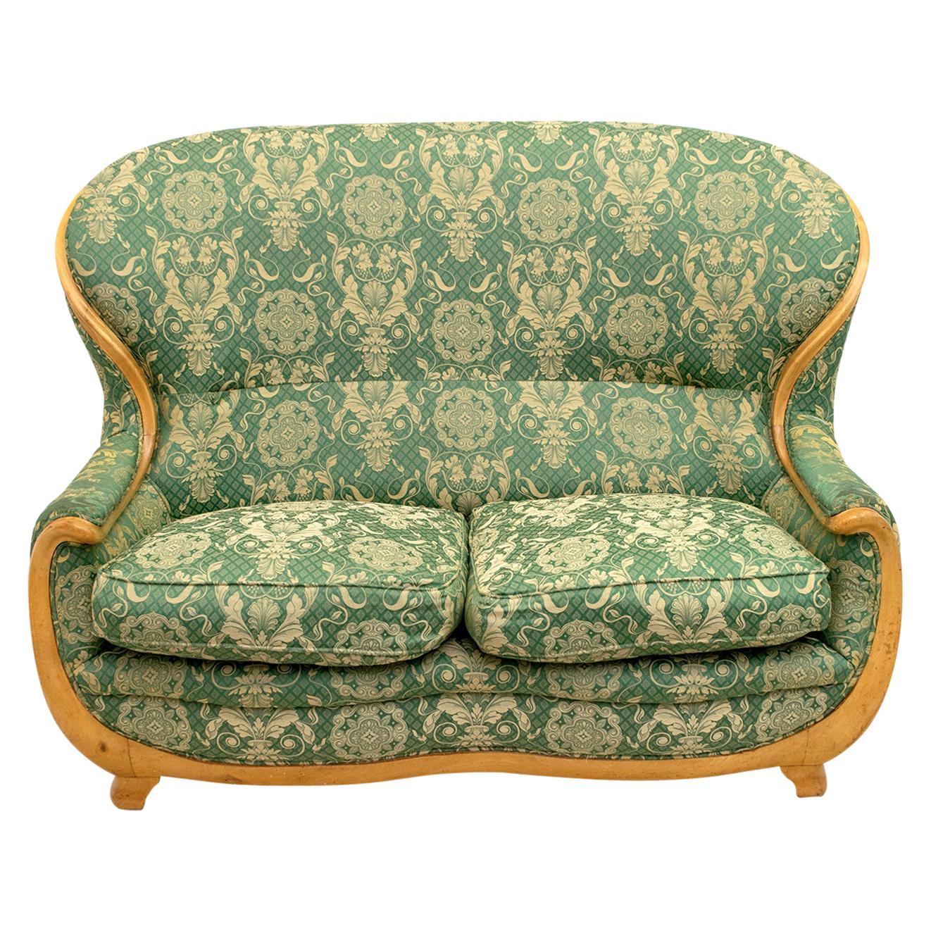 Mid-Century Modern Maple Sofa, Very Special Design, 1970