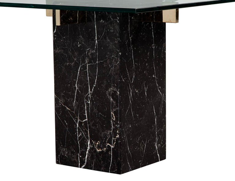 Mid-Century Modern Marble Brass & Glass Side Table by Artedi For Sale 2