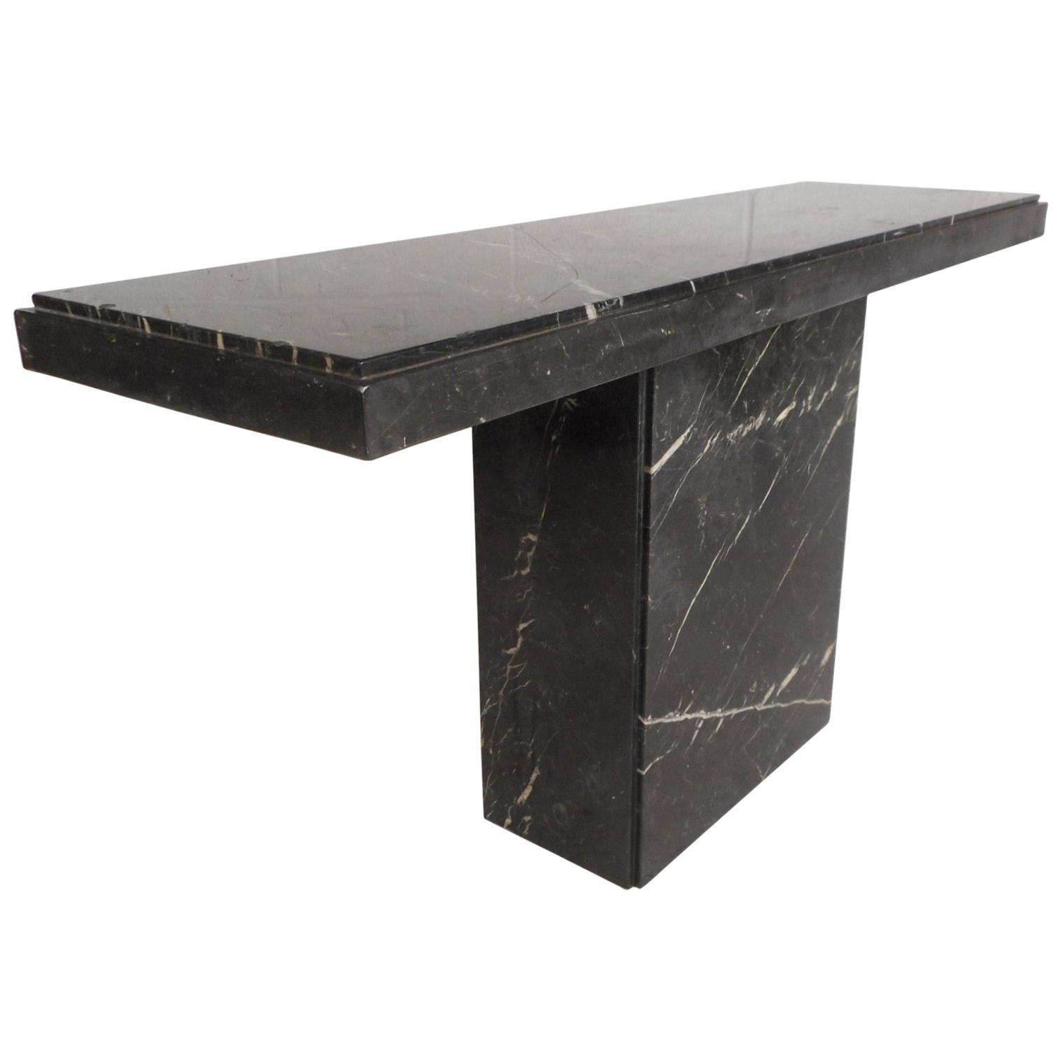 Mid Century Modern Marble Hall Table